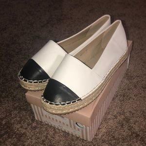 Black and white espadrilles